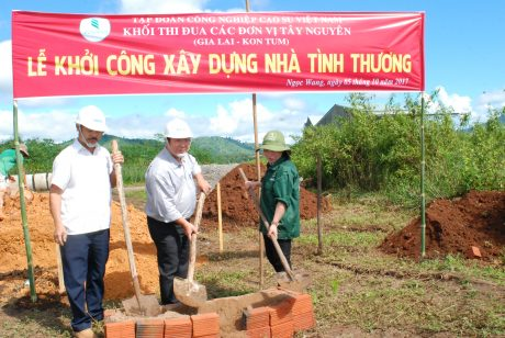 Khối thi đua Tây Nguyên khởi công xây dựng nhà tình thương